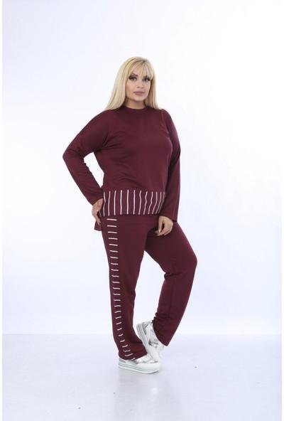 Mezura Tekstil Eşofman Takım Bordo 50 - 52