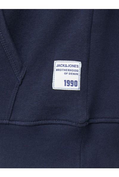 Jack & Jones Baskılı Erkek Kapşonlu Sweatshirt 12178449