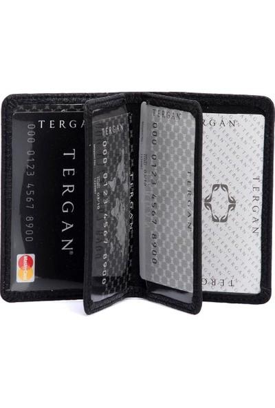 Tergan Siyah Deri Kredi Kartlık 01601A41