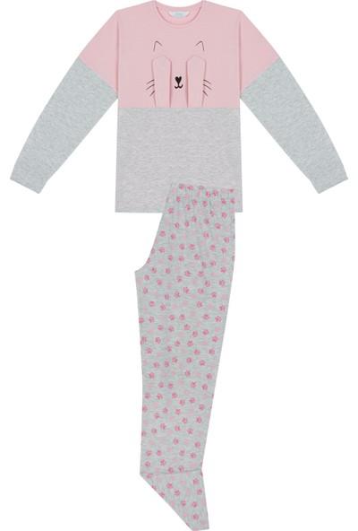 Penti Açık Pembe-Gri Teen Kitty 2'li Pijama Takımı