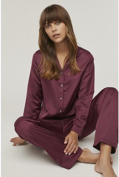 Penti Berry Saten Pijama Takımı