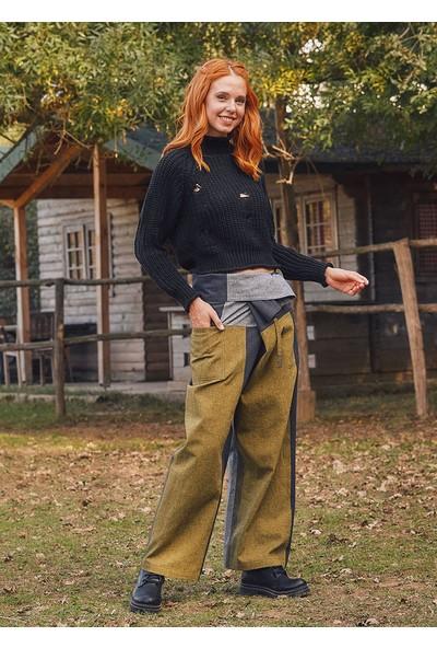 Los Banditos Beli Bağlamalı Rahat Kesim Kışlık Hardal Balıkçı Pantolon