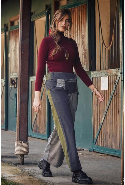 Los Banditos Beli Bağlamalı Rahat Kesim Kışlık Yeşil Balıkçı Pantolon