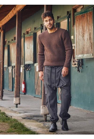 Los Banditos Kruvaze Bağcıklı Elastik Paça Kışlık Erkek Şalvar Pantolon