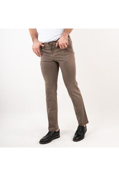 Ecer Regular Fit Kışlık Erkek Gabardin Pantolon Kahverengi 52