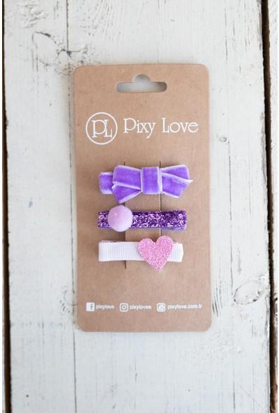 Pixy Love Renkli Kız Çocuk Toka Set Sweety
