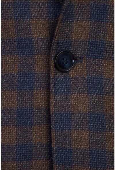 Kiğılı Klasik Yünlü Ekose Ceket