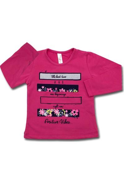 Difa Pembe Çiçekli Yıldızlı 2 Li Bebek Takımı K3370