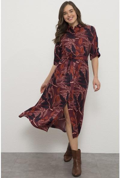 U.S. Polo Assn. Kadın Kırmızı Dokuma Elbise 50225849-VR014