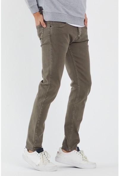 Jean Maker Erkek Vizon Slim Fit Pantolon