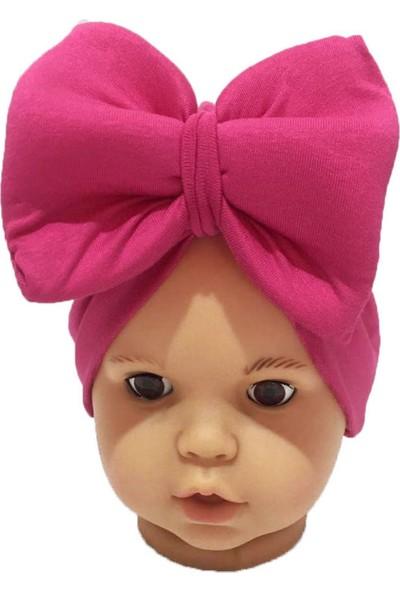 Özlem Bebe Fuşya Fiyonklu Kız Bebek Bone