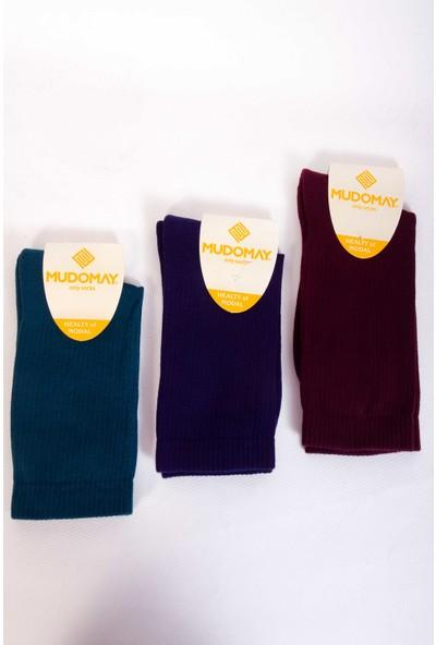 Mudomay 6'lı Tenis Havlu Erkek Çorap Renkli 41 - 44