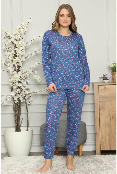 Akbeniz Kadın Penye Uzun Kol Pijama Takım 2701