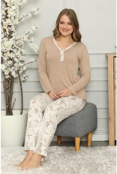 Akbeniz Kadın Penye Uzun Kol Pijama Takım 2703