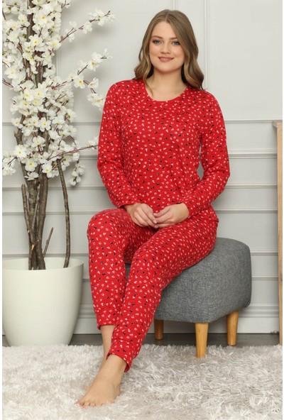 Akbeniz Kadın Penye Uzun Kol Pijama Takım 2705