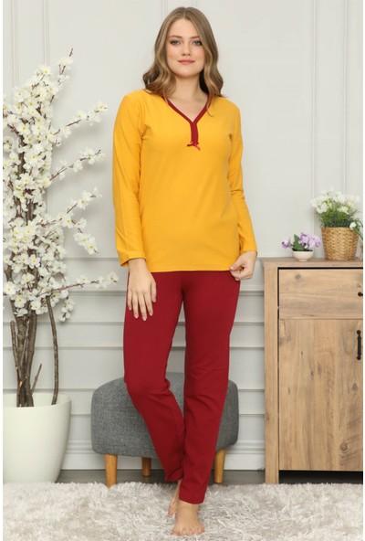 Akbeniz Kadın Penye Uzun Kol Pijama Takım 2708