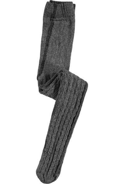 Bella Calze Kız Çocuk Külotlu Çorap 2-13 Yaş Gri