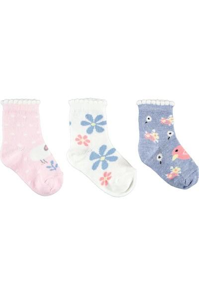 Civil Baby Kız Bebek 3'lü Çorap Set 0-24 Ay Pembe