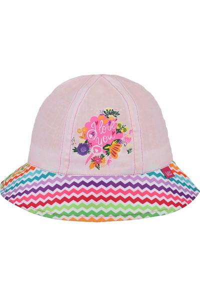 Kitti Kız Çocuk Maksi Şapka 4-8 Yaş Pembe