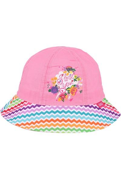 Kitti Kız Çocuk Maksi Şapka 4-8 Yaş Fuşya