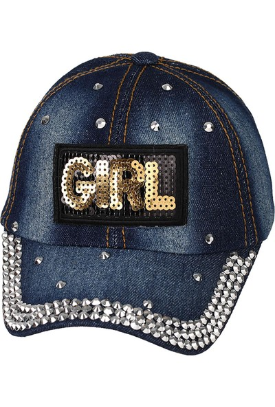 Kitti Kız Çocuk Şapka 4-8 Yaş Mavi