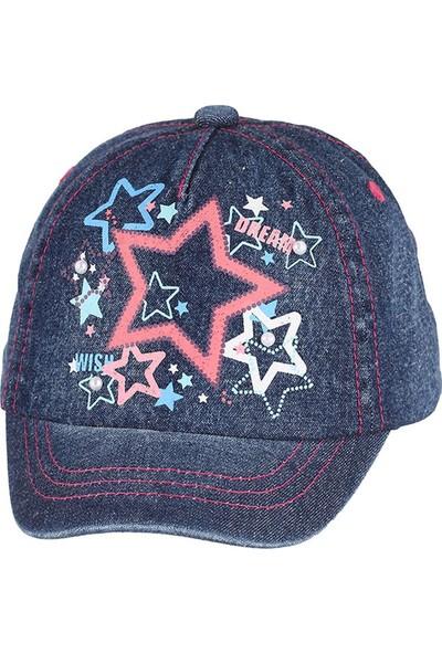 Kitti Kız Çocuk Kep Şapka 1-4 Yaş Mavi