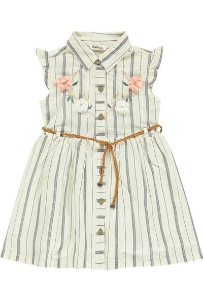 Civil Girls Kız Çocuk Elbise 2-5 Yaş Lacivert