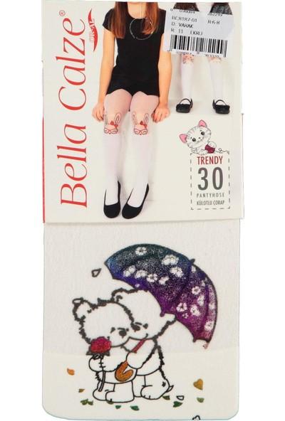 Bella Calze Kız Çocuk Külotlu Çorap 2-13 Yaş Ekru