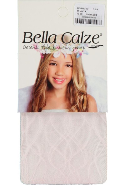 Bella Calze Kız Çocuk Külotlu Çorap 2-13 Yaş Toz Pembe