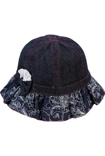 Kitti Kız Çocuk Maksi Şapka 1-4 Yaş Lacivert