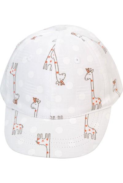 Kitti Kız Çocuk Şapka 1-4 Yaş Beyaz