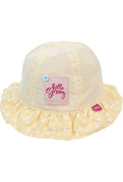 Kitti Kız Çocuk Maksi Şapka 1-4 Yaş Sarı