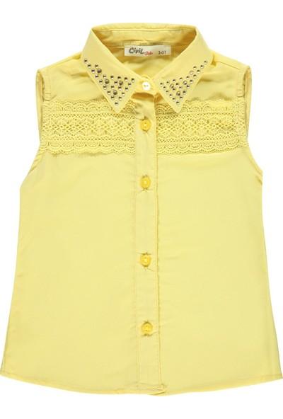 Civil Girls Kız Çocuk Krep Gömlek 2-5 Yaş Sarı