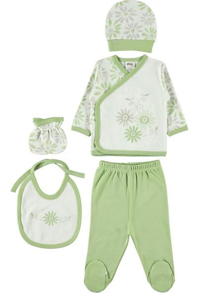 Civil Baby Kız Bebek 5'li Zıbın Takımı Yenidoğan Yeşil