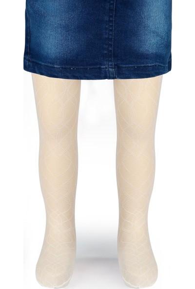 Bella Calze Kız Külotlu Çorap 2-11 Yaş Ekru