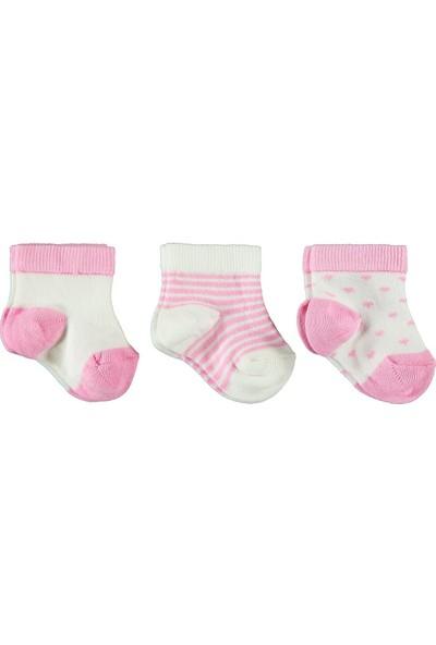 Civil Baby Kız Bebek 3'lü Çorap Set 0-18 Ay Pembe