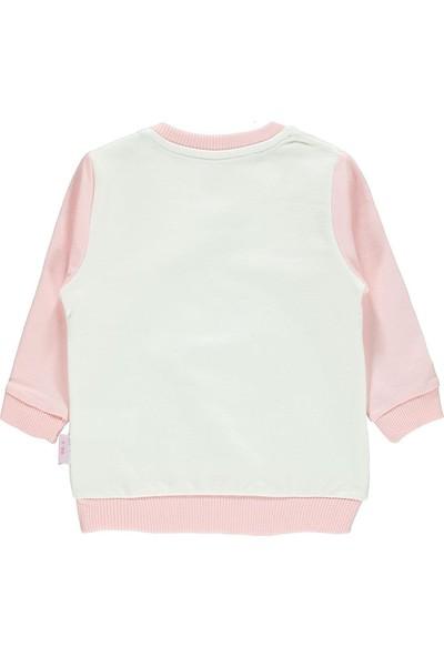 Kujju Kız Bebek Sweatshirt 6-18 Ay Pudra Pembe