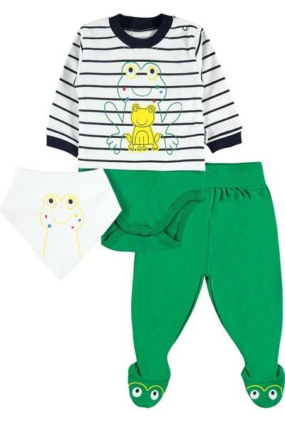 Albimini Erkek Bebek 3'lü Takım 0-6 Ay Yeşil