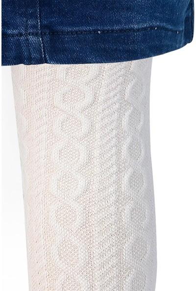 Bella Calze Kız Çocuk Külotlu Çorap 2-11 Yaş Beyaz