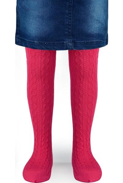 Bella Calze Kız Çocuk Külotlu Çorap 2-11 Yaş Fuşya