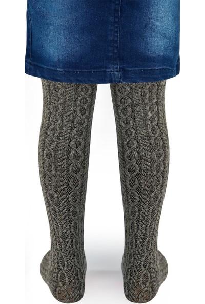 Bella Calze Kız Çocuk Külotlu Çorap 2-11 Yaş Gri