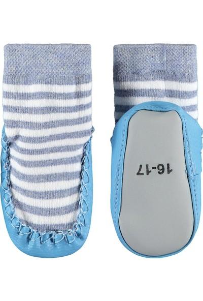 Civil Baby Erkek Bebek Çarık Çorap 16-20 Numara Mavi