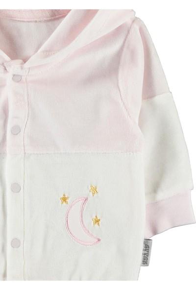 Kujju Kız Bebek Kapüşonlu Hırka 6-18 Ay Pembe
