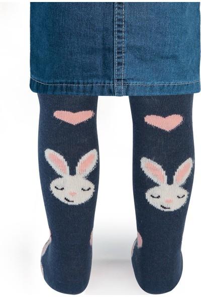 Civil Baby Kız Bebek Külotlu Çorap 0-12 Ay İndigo