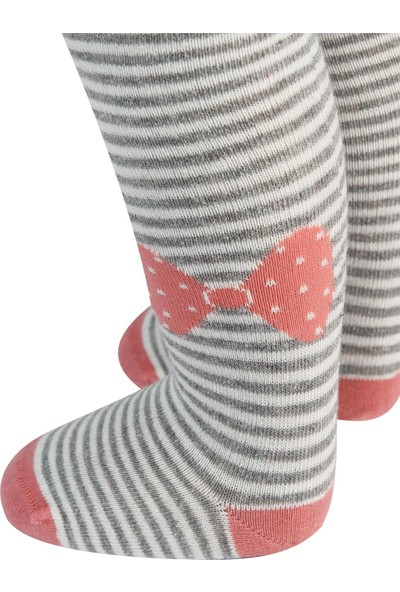 Civil Baby Kız Bebek Külotlu Çorap 0-12 Ay Gri