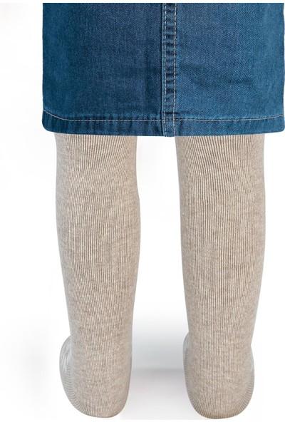 Civil Baby Kız Bebek Külotlu Çorap 0-24 Ay Bej