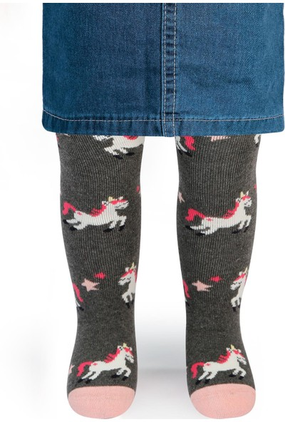 Civil Baby Kız Bebek Havlu Külotlu Çorap 0-12 Ay Füme