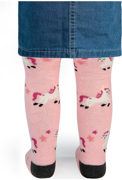 Civil Baby Kız Bebek Havlu Külotlu Çorap 0-12 Ay Pembe
