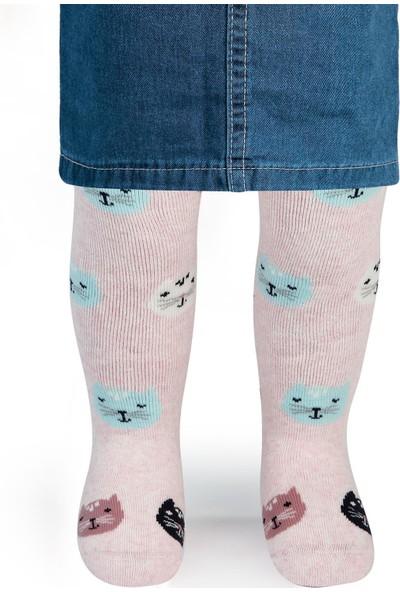 Civil Baby Kız Bebek Külotlu Çorap 0-12 Ay Pembe