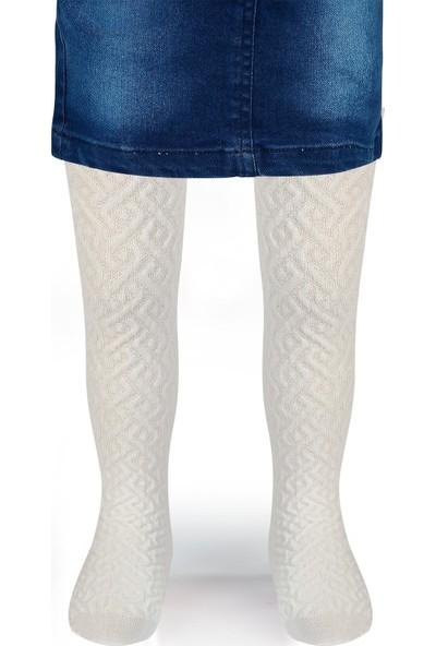 Bella Calze Kız Çocuk Triko Külotlu Çorap 2-11 Yaş Ekru